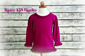 Girls Plum Long Sleeve Shirt