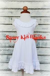 White Sleeveless Empire Waist Dress
