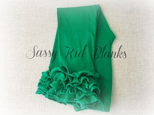 Kelly Green Ruffled Sassy Leggings