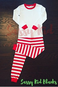 Christmas Pajama Red & White Stripe