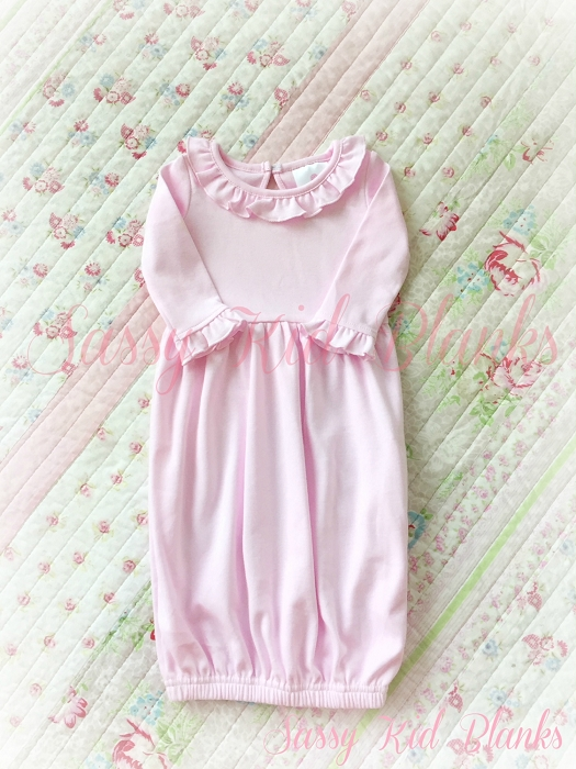 Baby Girl Layette Gown Pastel Pink