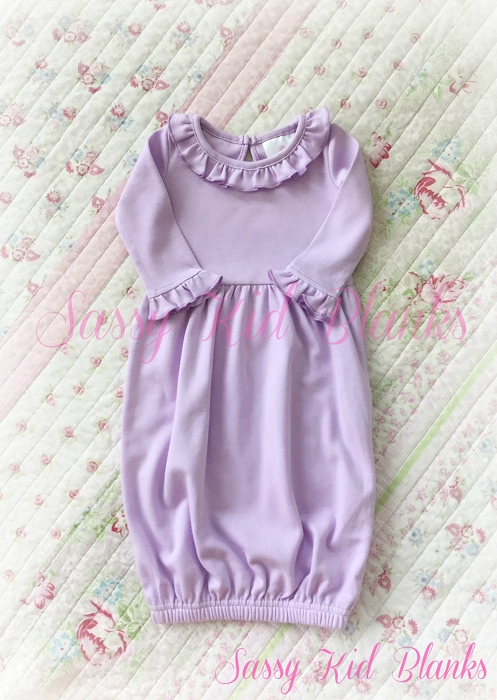 Baby Girl Layette Gown Lilac