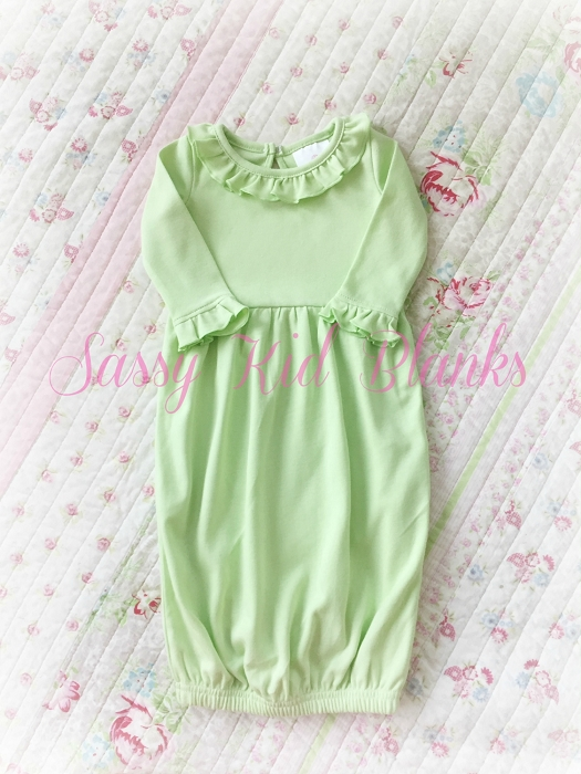 Baby Girl Layette Gown Easter Egg Green