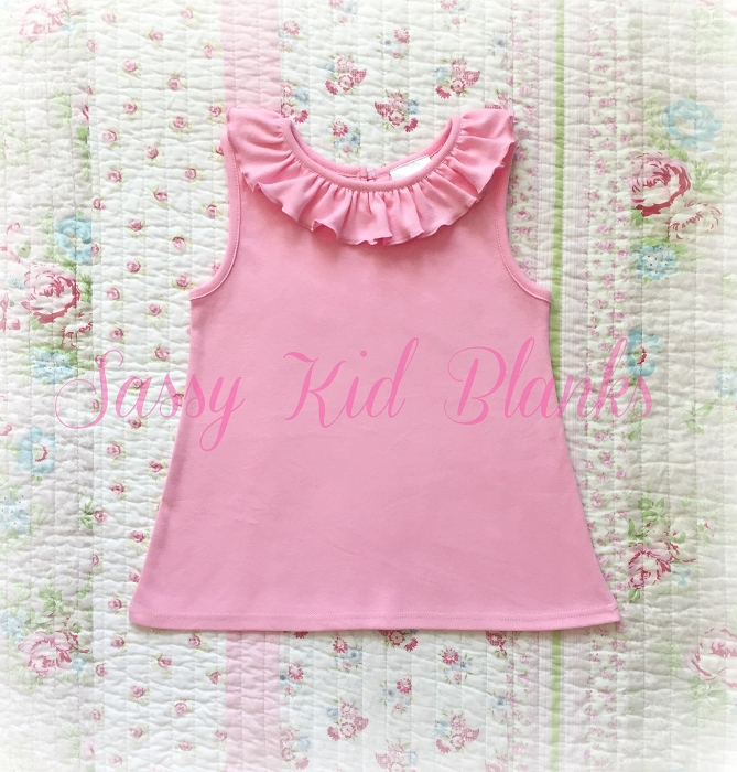 Girls Ruffle Tank Shirt