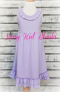 Lilac Sleeveless Empire Waist Dress