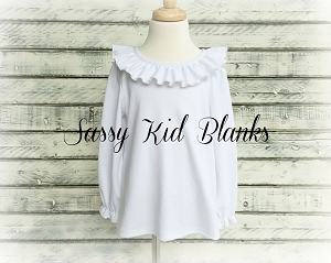 Girls Ruffle Collar Shirt