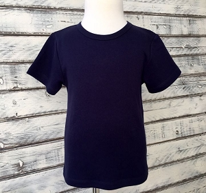 Boys Navy Blue Short Sleeve Shirt