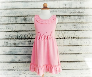 Pink Sleeveless Empire Waist Dress