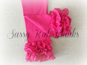 Bright Pink Ruffled Sassy Leggings