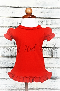 Girls RED Short Sleeve Shirt