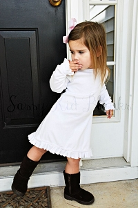Girls Long Sleeve A-line Dress