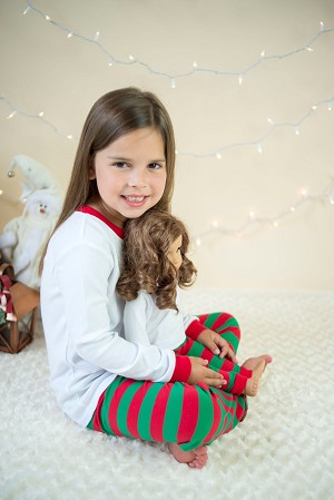 Christmas Pajama Red & Green Stripe