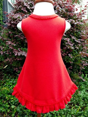 Red Sleeveless Sassy Dress