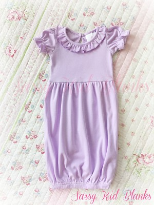 Baby Girl SS Layette Gown Lilac