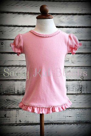 Girls Candy Pink Short Sleeve Shirt